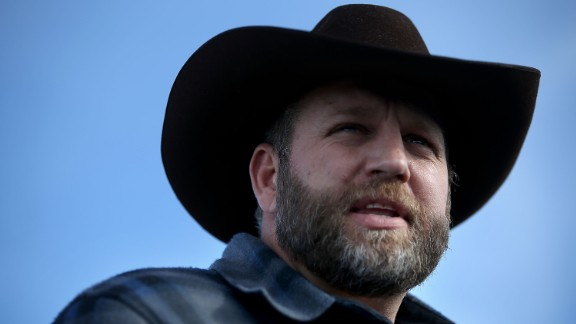 BURNS, OR - JANUARY 06:  Ammon Bundy, the leader of an anti-government militia, speaks to members of the media in front of the Malheur National Wildlife Refuge Headquarters on January 6, 2016 near Burns, Oregon.  An armed anti-government militia group continues to occupy the Malheur National Wildlife Headquarters as they protest the jailing  of two ranchers for arson.  (Photo by Justin Sullivan/Getty Images)