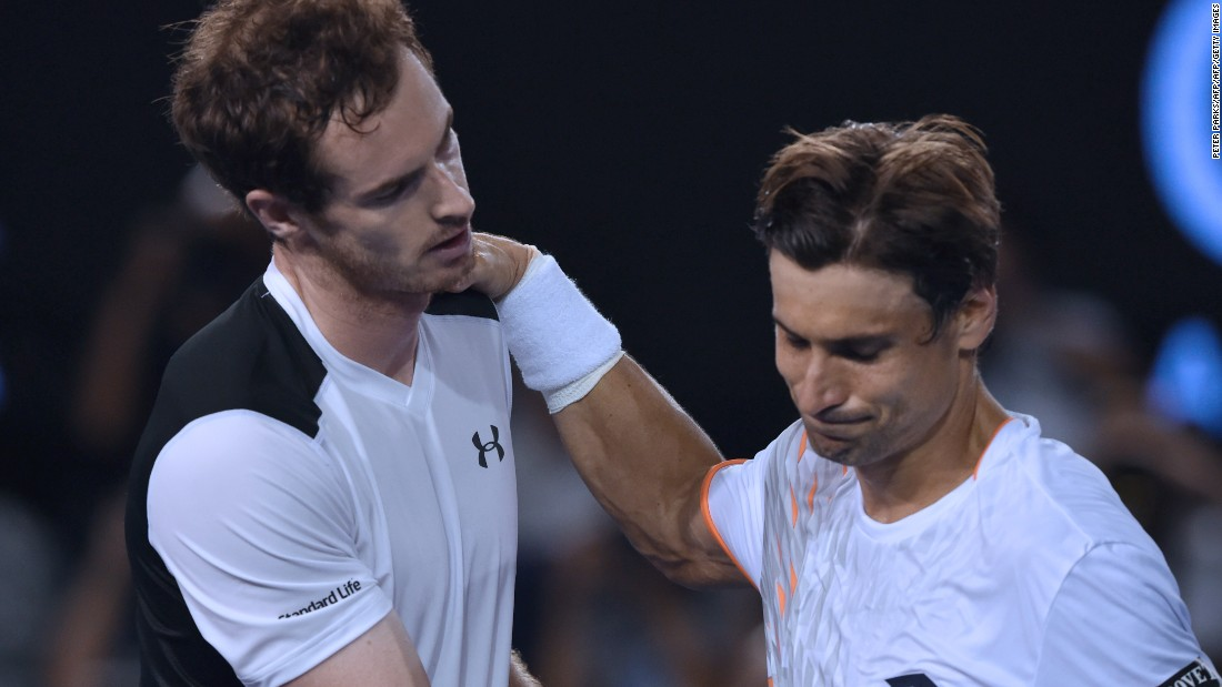 Andy Murray reached his 18th grand slam semifinal Wednesday defeating David Ferrer 6-3 6-7 6-2 6-3 in the Australian Open.