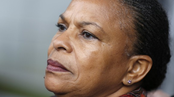 French Justice Minister Christiane Taubira, seen here in Paris in November 2015, has resigned her post.
