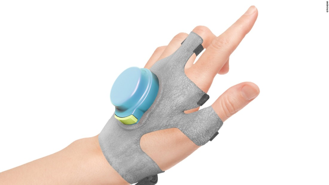 "In February 2016 CNN profiled the Gyroglove, hardware proposed as a drug-free alternative to Parkinson's tremors. Treatments for the disease become less effective over time, and there is no known cure. The GyroGlove uses a disk mounted in the back of the hand which spins at around 20,000rpm, which steadies motion. <a href=""https://cnn.com/2016/02/16/health/gyroglove-parkinsons-tremors-feat/""><strong>Read more</a></strong>"