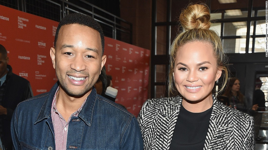 "Musician John Legend and model Chrissy Teigen attend the premiere of ""Southside With You,"" a re-imagining of Barack and Michelle Obama's first date in Chicago in 1989."