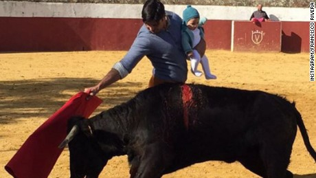Spanish bullfighter Francisco Rivera Ordóñez posted this image on social media, sparking outrage online.