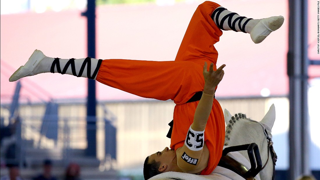 Reigning European vaulting champion Jannis Drewell started the sport when he was eight years old.