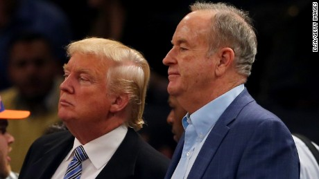 Bill O'Reilly's relationship with Donald Trump
