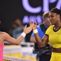 Williams Radwanska handshake Australian Open