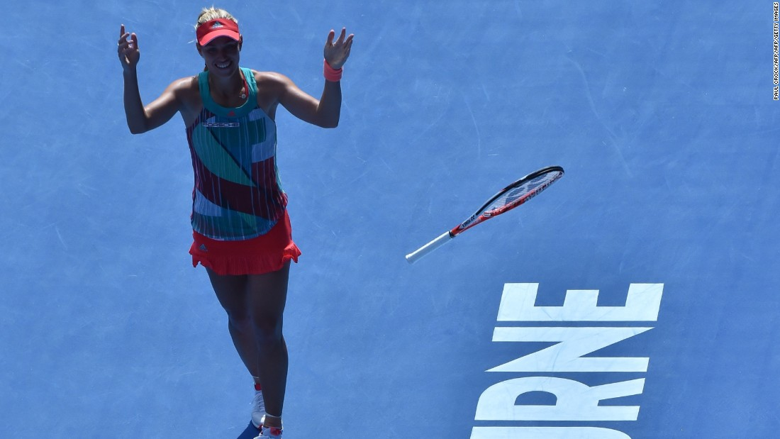 Williams will face Angelique Kerber in the final, after the German seventh seed ended British underdog Johanna Konta's incredible run with a 7-5 6-2 victory.
