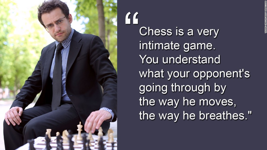 """What I really love about chess is it's kind of an art form, but at the same time you have a distinct level of judging who's better and who's worse -- which is the rating system,"" said Aronian."