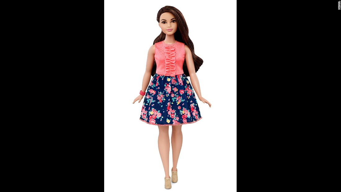 "Here's another style of ""Curvy Barbie."""