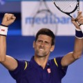 novak djokovic celebrates semifinal