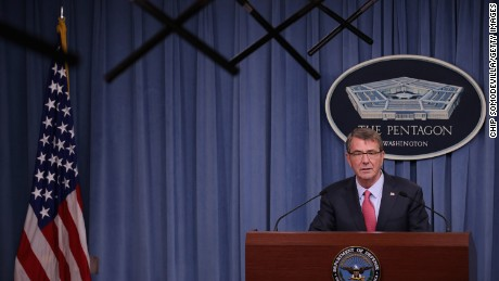 U.S. Secretary of Defense Ashton Carter announces new regulations that the military hopes will increase retention of troops that want to have families while preserving readiness during a news conference at the Pentagon January 28, 2016 in Arlington, Virginia.