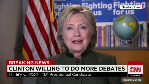 hillary clinton add more debates intv blitzer tsr_00004414.jpg