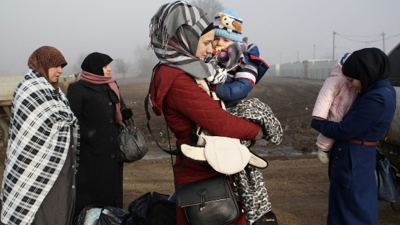Ayra from Aleppo, Syria, started her journey two years ago, when she was forced to flee to Turkey. She is traveling with her daughter Abdusehta.