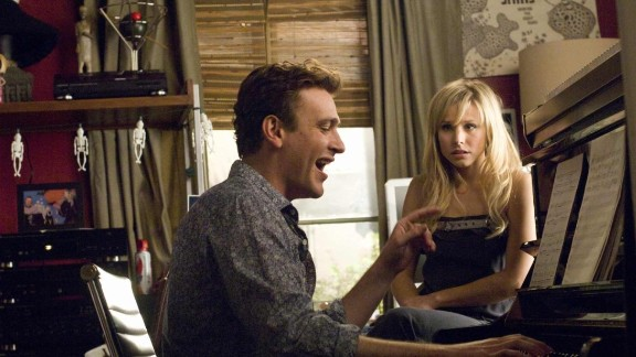 """""""Forgetting Sarah Marshall,"""" with Jason Segel and Kristen Bell, follows a sad-sack guy to Hawaii on his quest to forget about his lost love."""