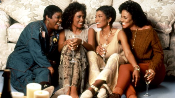 """Starring Loretta Divine (from left), Whitney Houston, Angela Bassett and Lela Rochon, """"Waiting to Exhale"""" features one of the best woman-scorned scenes ever captured. Bassett's character piles her cheating husband's belongings inside his very fancy car and sets fire to the lot of it."""