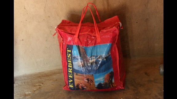 Hazel Shandumba's maternity bag.