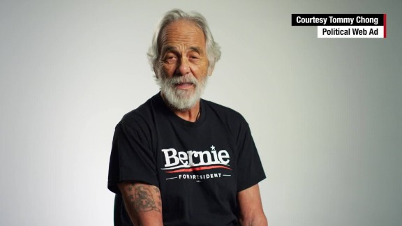 """Comedian Tommy Chong loves Bernie Sanders and has endorsed the Vermont senator for president.  """"Bernie's like a kush, like the best kind of weed you can get, because he's the answer to all our problems,"""" Chong told CNN."""