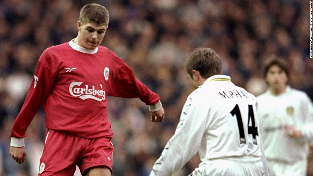 Making his first team debut aged 18, Gerrard quickly established himself as a fans' favorite at a club whose supporters love nothing more than seeing one of their own doing well.
