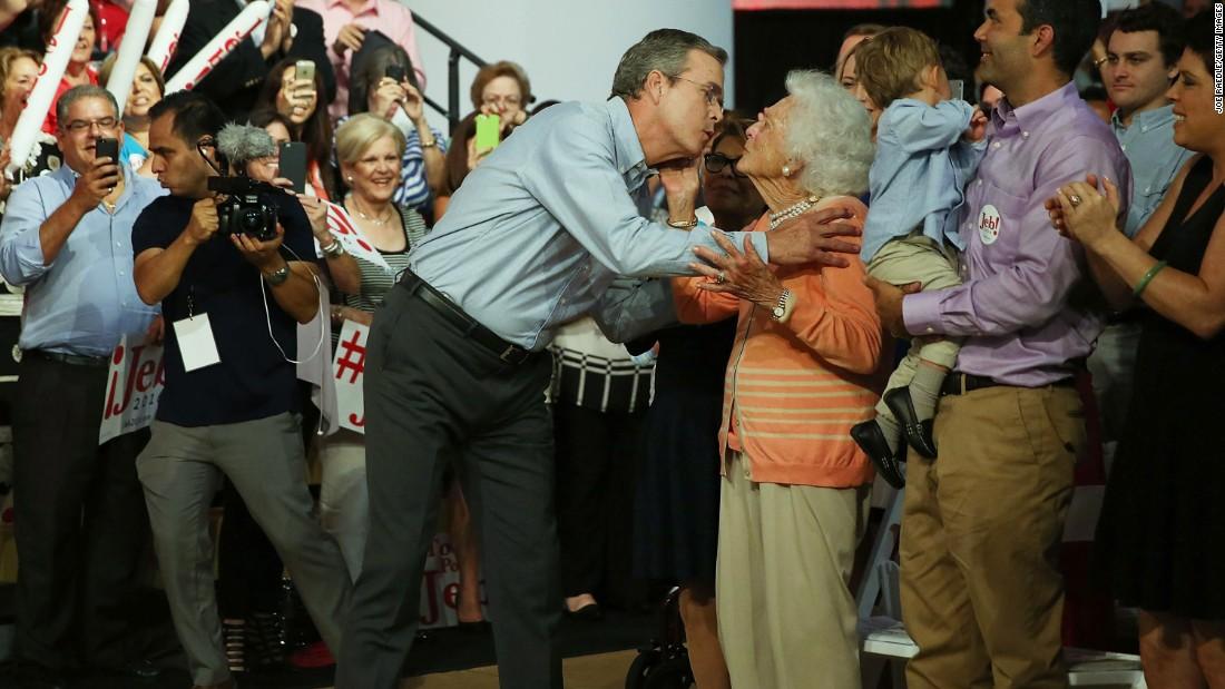Barbara Bush on Donald Trump: 'I'm sick of him' - CNNPolitics