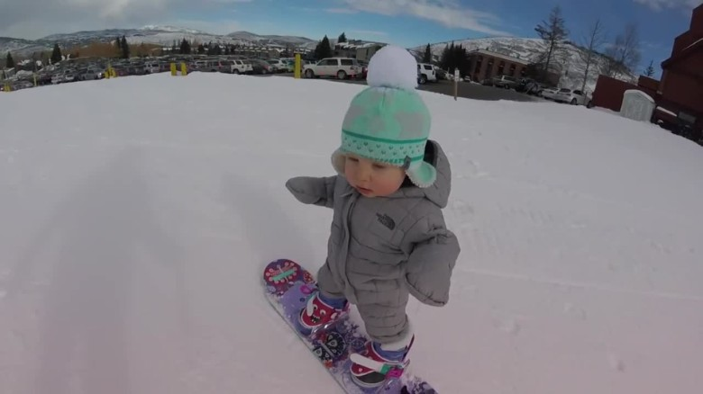 toddler snowboards like a pro cnn