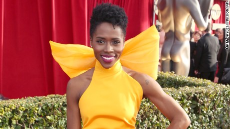 Sola Bamis arrives at the 22nd annual Screen Actors Guild Awards at the Shrine Auditorium & Expo Hall on Saturday, Jan. 30, 2016, in Los Angeles. (Photo by Matt Sayles/Invision/AP)