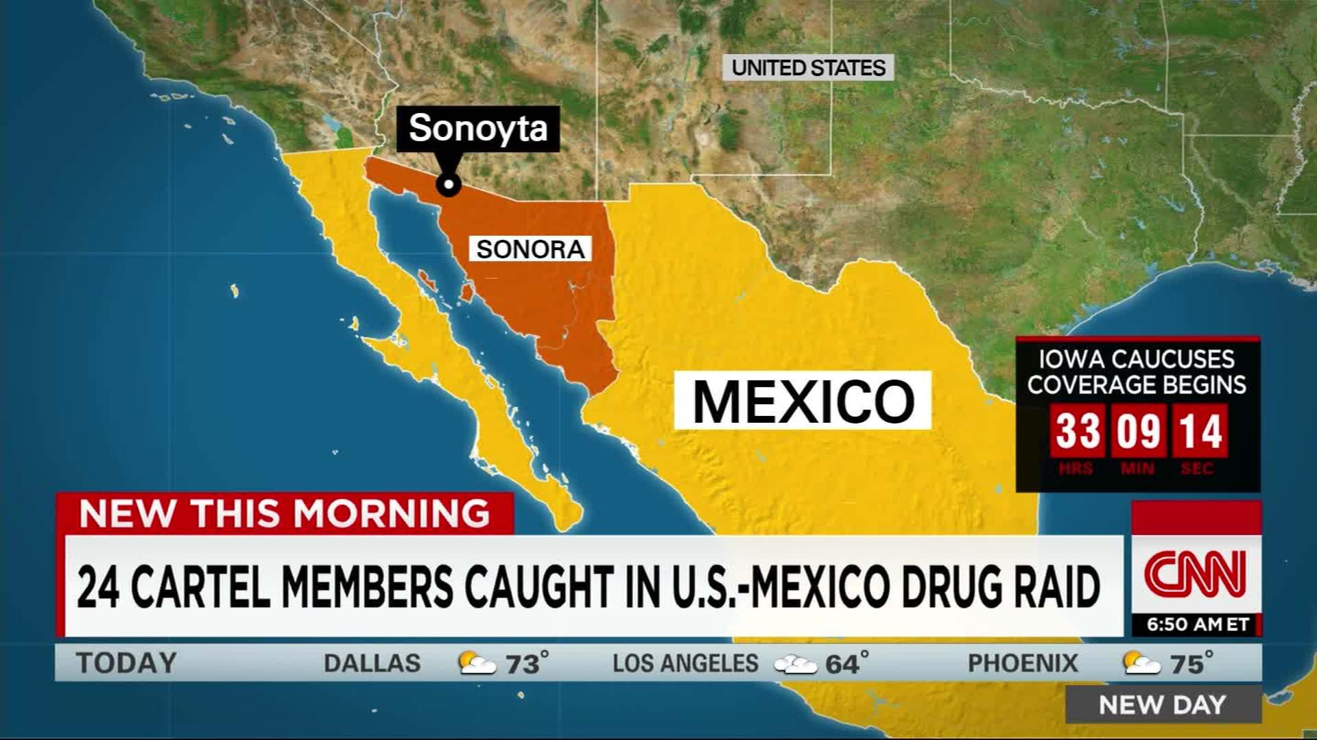 24 cartel members arrested in U S -Mexico border raid - CNN