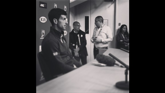 "AUSTRALIA: ""It was early 2010 when we first met Novak Djokovic for CNN Open Court. Tonight he wins the Australian Open for a 6th time and still is a pure classy gentleman. Two hours after winning, he still sits and talks to journalist after journalist, each time answering every question with enthusiasm and honesty. Congrats Novak...hope there are more to come."" - CNN's Paul Devitt @devocnn, January 31."