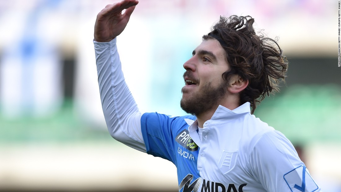 The former Italy under-21 and AC Milan striker provides some much-needed firepower for a Swansea team seeking to stay in the EPL. Now 26, he has reunited with his former Parma coach Francesco Guidolin in Wales.