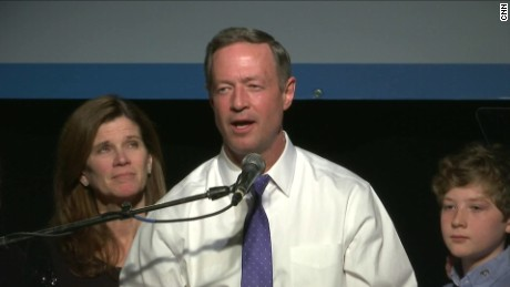 Martin O'Malley suspended his first presidential campaign in 2016