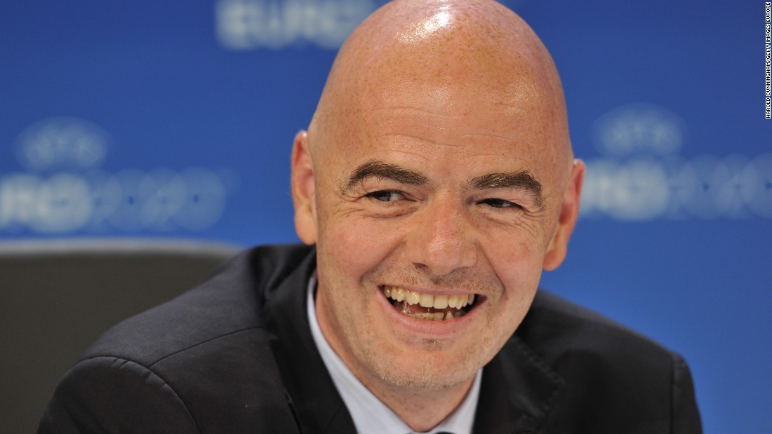 "Infantino, the Swiss-Italian lawyer wants to expand the World Cup from 32 to 40 teams He told delegates: ""I want to be the president of all of you, of all 209 nations."""