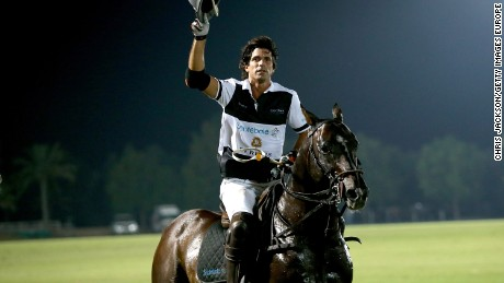 ABU DHABI, UNITED ARAB EMIRATES - NOVEMBER 20:  Nacho Figueras plays during the Sentebale Polo Cup presented by Royal Salute World Polo at Ghantoot Polo Club on November 20, 2014 in Abu Dhabi, United Arab Emirates.  (Photo by Chris Jackson/Getty Images for Royal Salute)