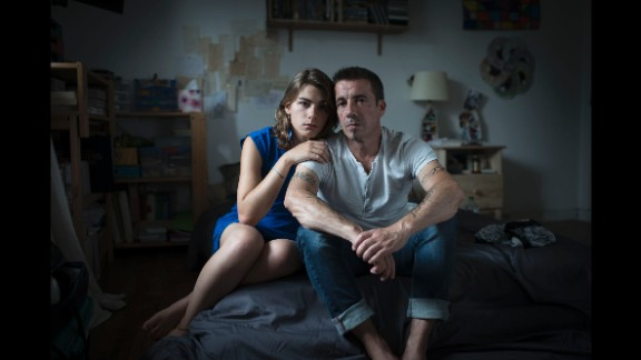 Melanie, seen here with her father, is transgender. She is supported by her family, her friends and her boyfriend, Gouriou said.