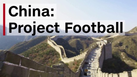 China's goal of world soccer domination