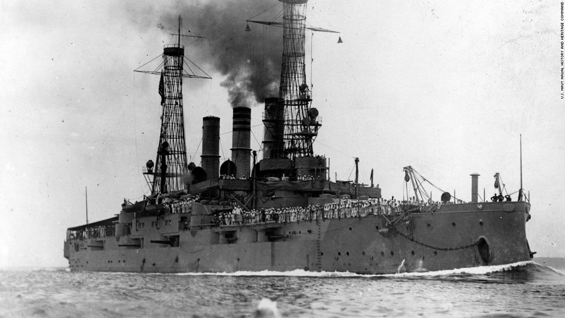 The second USS New Hampshire was a Connecticut class battleship that was commissioned in 1908 and decommissioned in 1921.  It saw action during World War I.