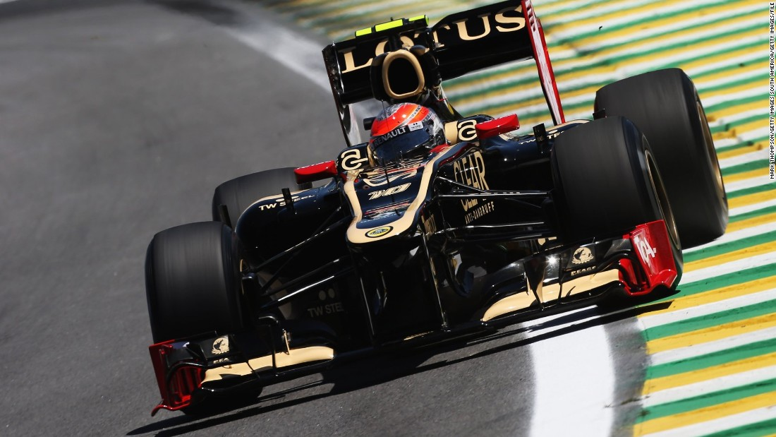 Rookie Palmer replaces Romain Grosjean, pictured driving for Lotus in 2012. The Frenchman has joined the new U.S. Haas F1 team.