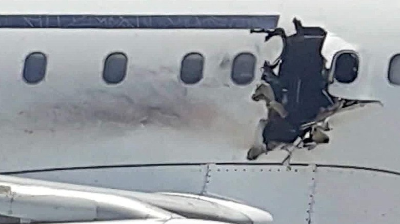 Explosive residue found on airliner