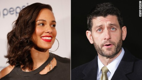 Can Alicia Keys win Paul Ryan's heart?