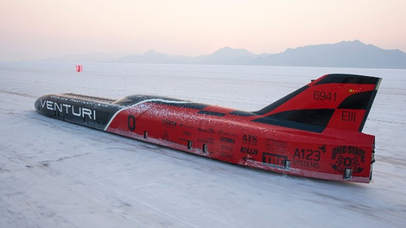 """Roger Schroer has been piloting the Venturi land speed vehicles for several years now.  So what's it like to drive at 372 mph (600 kph)? """"He is a quiet man, but he likes how it feels"""" says Venturi's lead project engineer Delphine Biscaye, of Schroer's experience."""