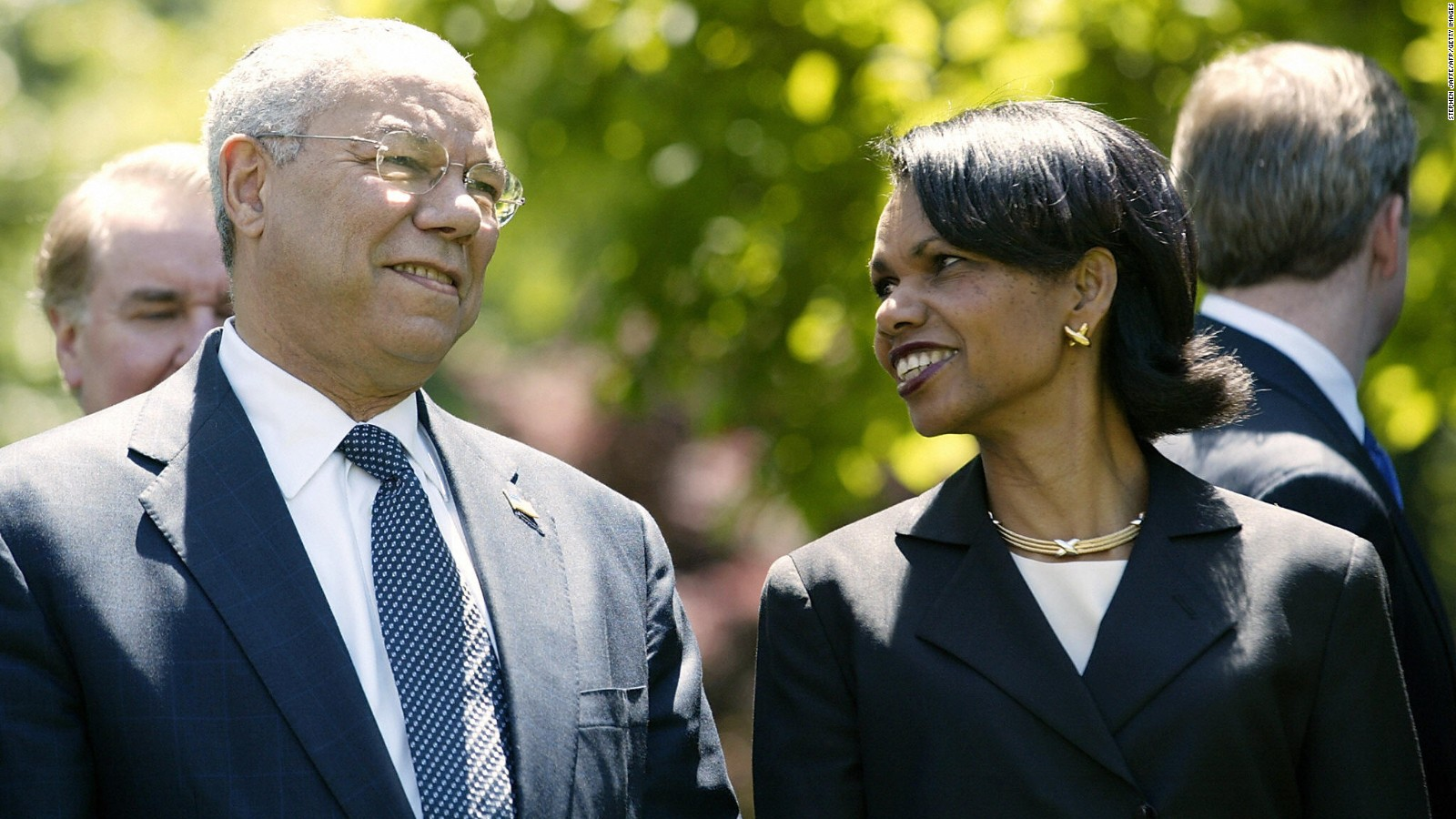 Image result for photo of colin powell and condi rice