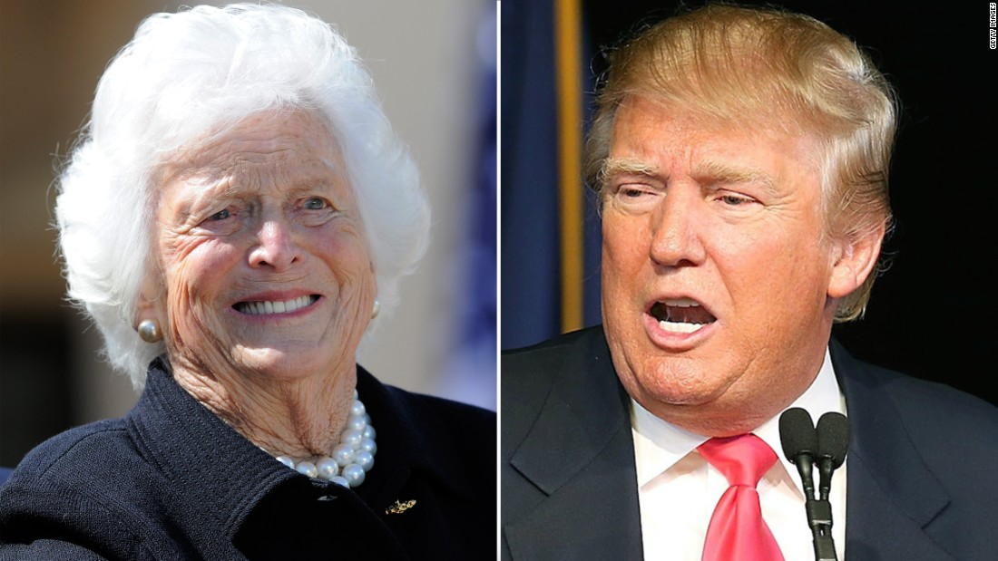 President Trump won't attend Barbara Bush funeral
