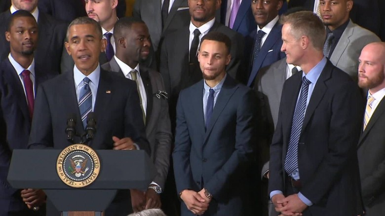 Obama: Warriors coach doesn't get any credit either