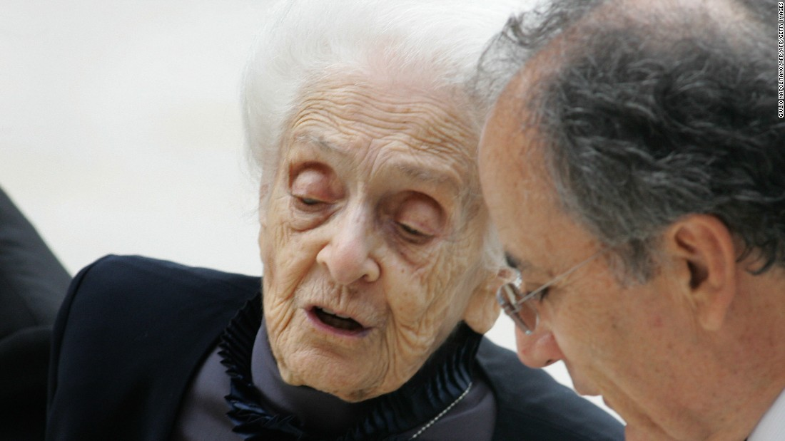Italian neuroscientist Rita Levi-Montalcini (1909-2012) was known for her work in neurobiology. Along with Stanley Cohen, she won the 1986 Nobel Prize in Physiology or Medicine for their discovery of nerve growth factor, a protein controlling growth and development. Prior to her death in 2012, she was the oldest living Nobel laureate and first ever to reach their 100th birthday.