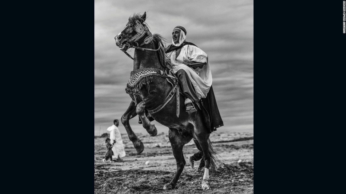 """My greatest happiness would be to show these photos around the world and discover our equestrian traditions,"" Rahmani says."