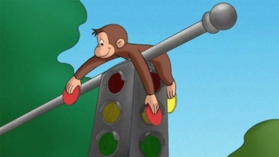 Curious George in the PBS tv series.