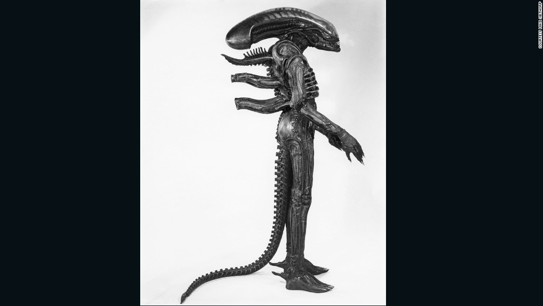 "The costume's tail was controlled separately and made it difficult for Badejo to sit down between takes. When fully fitted, the creature stood seven feet tall -- not ideal considering the set of the spaceship Nostromo was only 6""7 high."