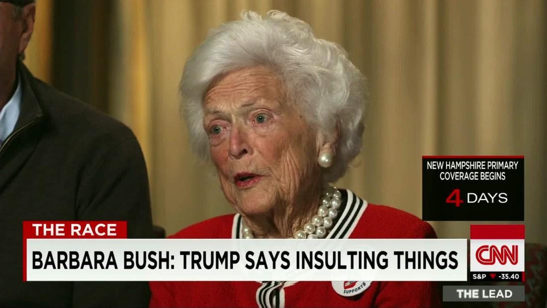 Barbara Bush: I'm sick of Donald Trump - CNN Video
