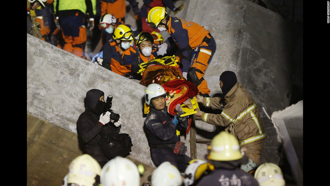 A woman is rescued in Tainan.