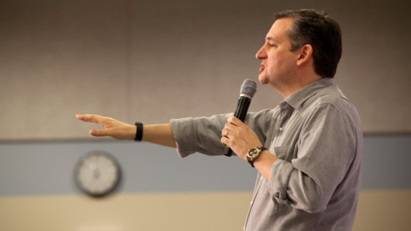 Republican presidential candidate Sen. Ted Cruz (R-TX) speaks at a town hall style meeting on February 5, 2016 at the Lancaster School in Salem, New Hampshire.