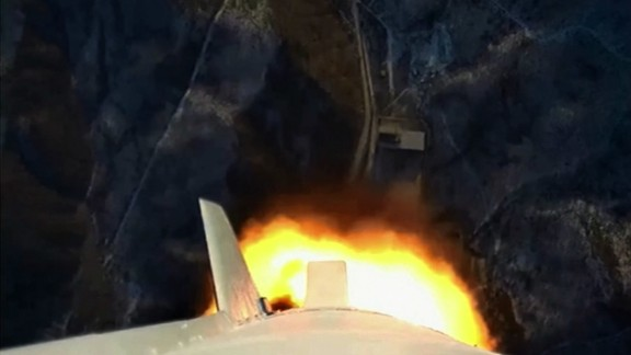 State media captures a moment on the rocket at lift off.