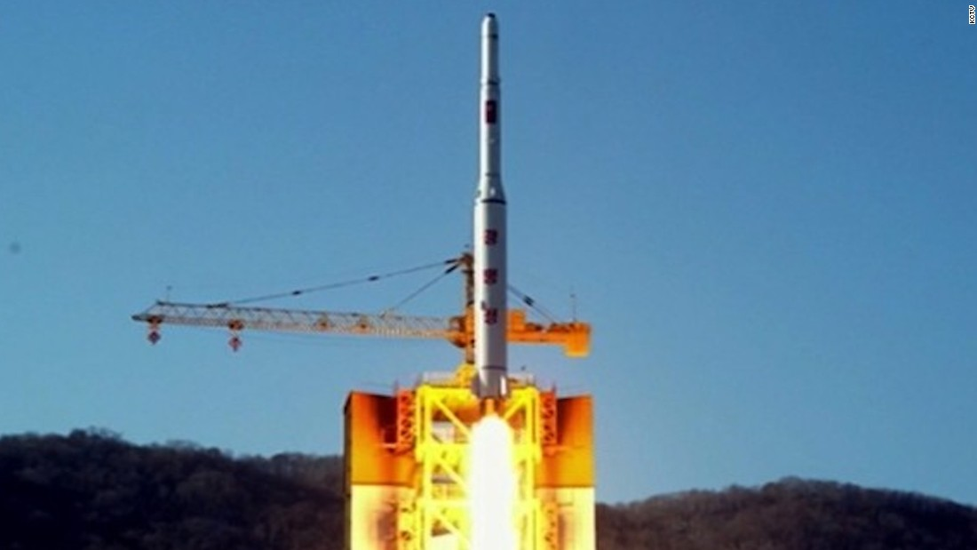 The Kwangmyongsong carrier rocket blasted off from the Sohae launch  facility at 9 a.m Sunday (. Photos: North Korea launches rocket