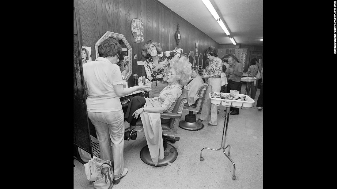 Meisler's mom gets her hair teased at a salon in North Massapequa in June 1979.